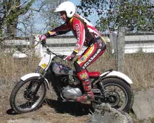 Classic Trials Alan Duthie. Triumph Tigercub Trials Special